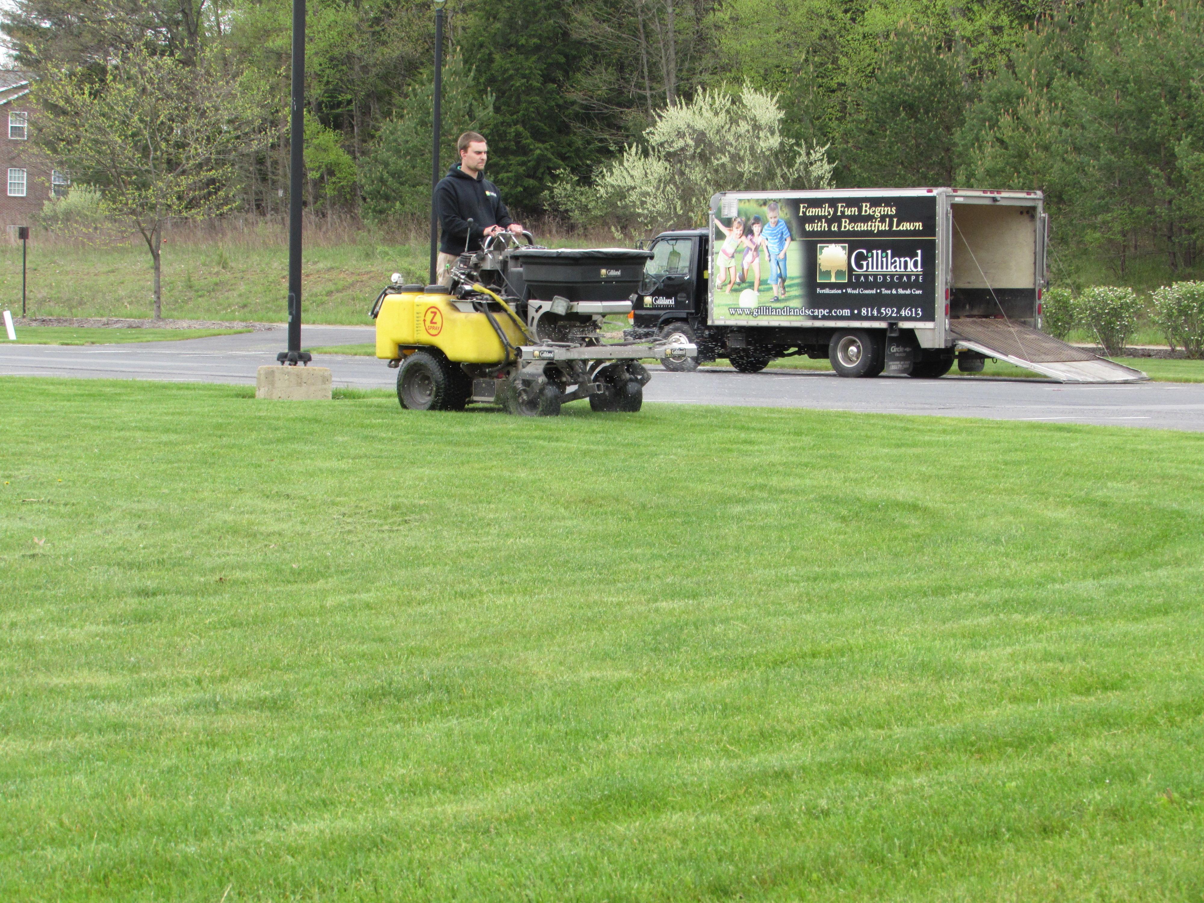 Gilliland landscape lawn care fertilization for Garden equipment deals